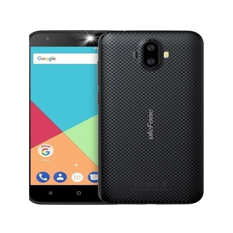 "Smartphone Ulefone S7, 5"" HD, 1GB/8GB, Quad Core, Dual Cameras, Black"
