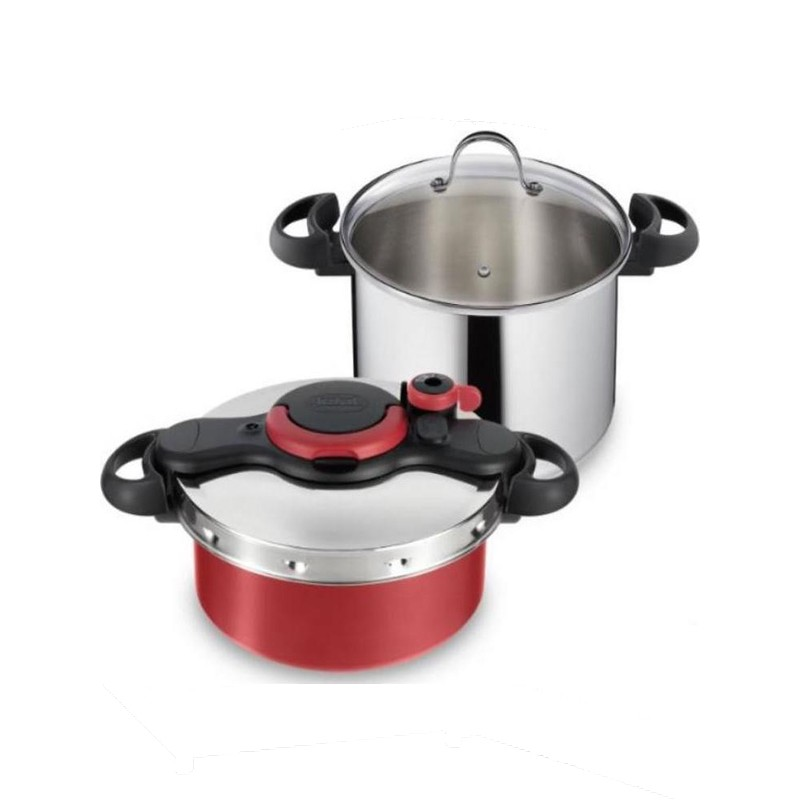 Σετ Μαγειρικών Σκευών Tefal Clipso Minute Set 7.5lt & 5lt P46353