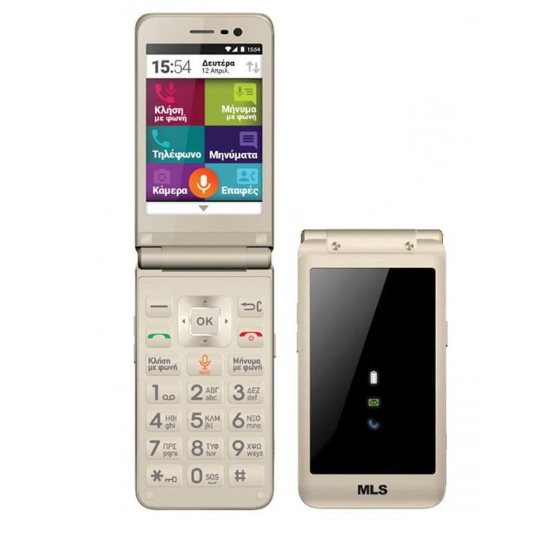Smartphone MLS EASY FLIP 4G CHAMPAGNE DUAL SIM
