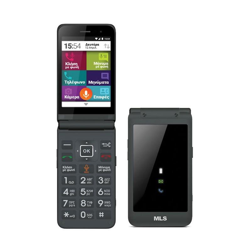 Smartphone MLS EASY FLIP 4G GREY DUAL SIM