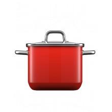 Χύτρα Silit Quadro με καπάκι 18cm Red