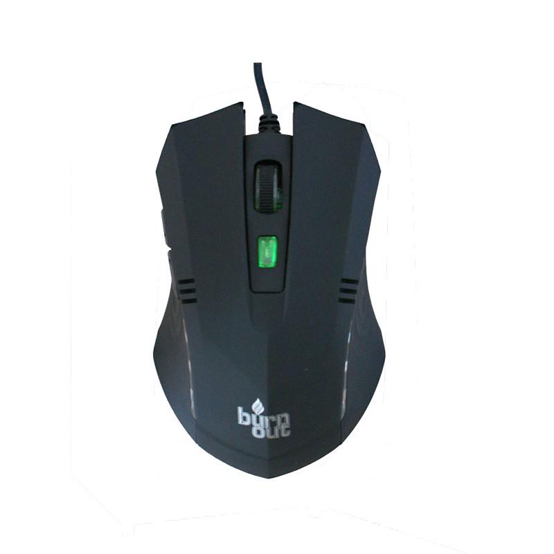 Ποντίκι Burn Out Bo 061 Ενσύρματο Μαύρο