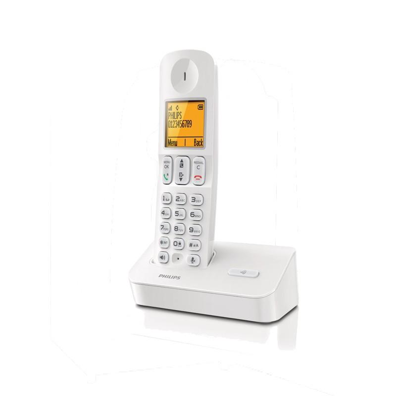 Ασύρματο Τηλέφωνο Philips D4001 Λευκό