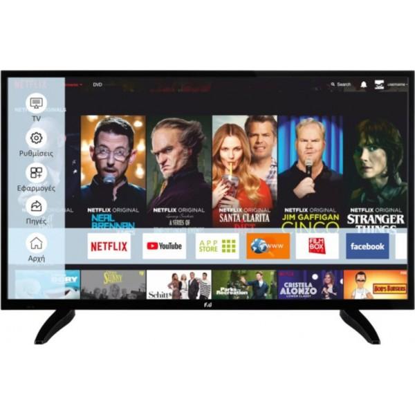F&U Smart Τηλεόραση LED HD Ready FLS39203 HDR 39
