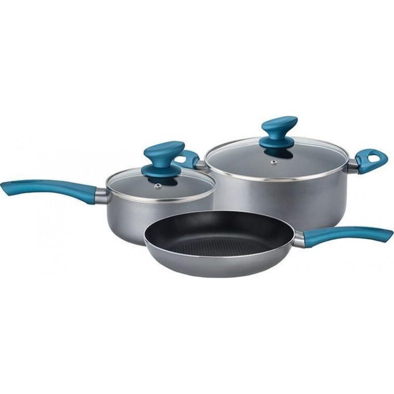 Izzy Σετ Μαγειρικά Σκεύη Aqua 5τμχ 222721