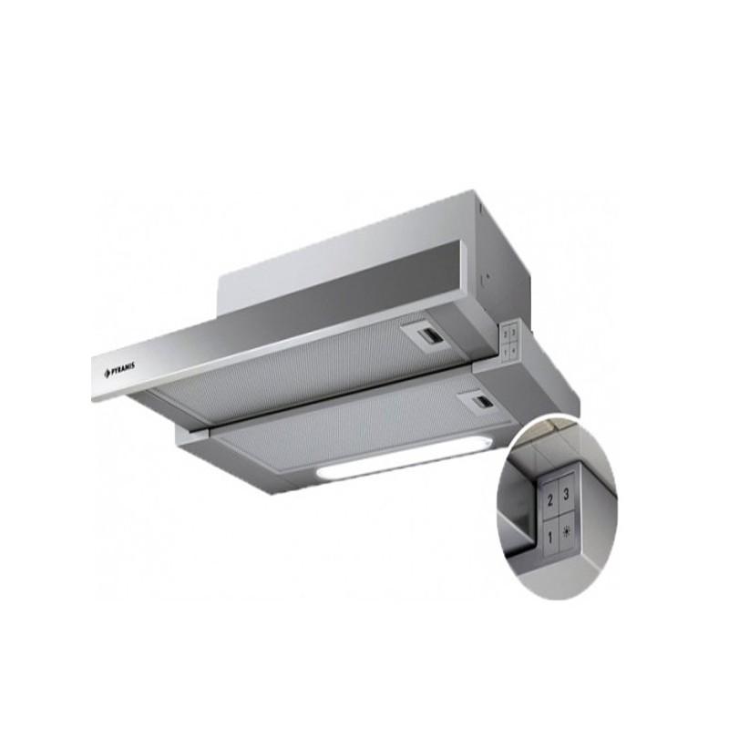 Απορροφητήρας Pyramis Essential Συρόμενος Slim Turbo 60cm Inox 065006401